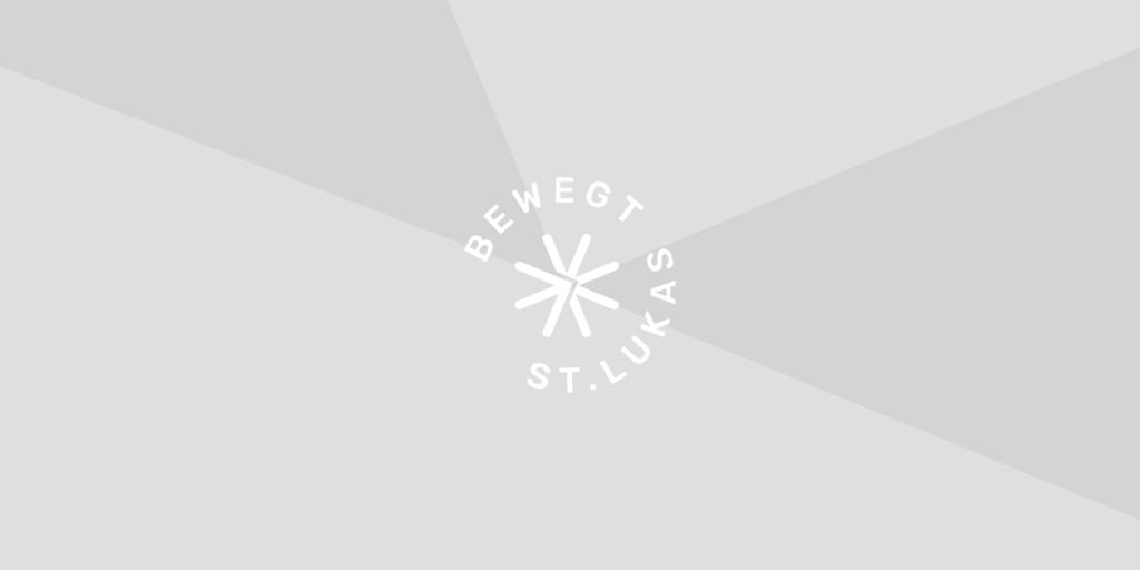 Neutraler Header für Textseiten, Bewegt-St-Lukas-Logo auf grauem Hintergrund